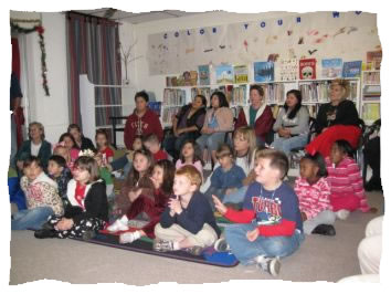 Watching Nancy Blake's Puppets at 2011 Reading with Rudolph