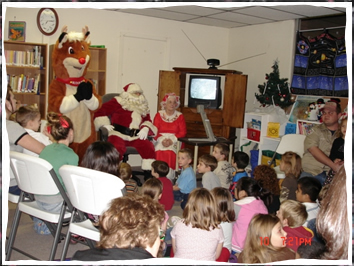 Children attend Reading with Rudolph at Christmas