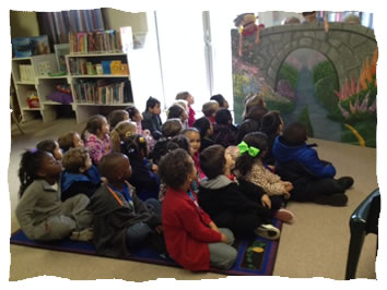 Pre K Class Visits the Library