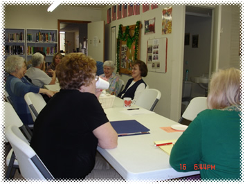 Community patrons at the Friends Master Gardener meeting